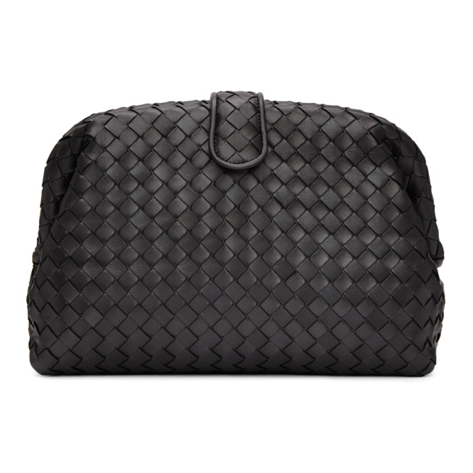 Bottega Veneta Grey Lauren Intrecciato Clutch