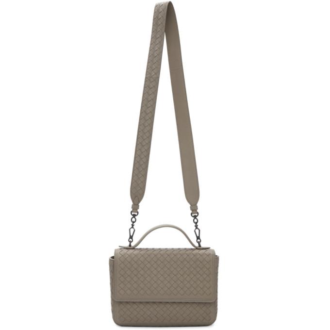 Bottega Veneta Tan Intrecciato Messenger Bag