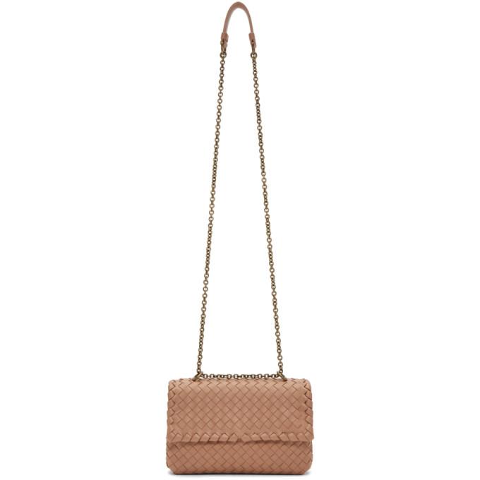 Bottega Veneta Tan Small Intrecciato Olimpia Bag
