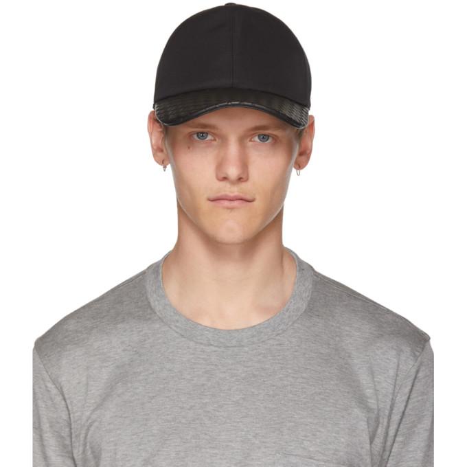 BOTTEGA VENETA BLACK INTRECCIATO CAP