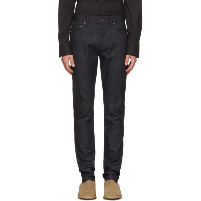 Bottega Veneta Navy Stretch Denim Jeans