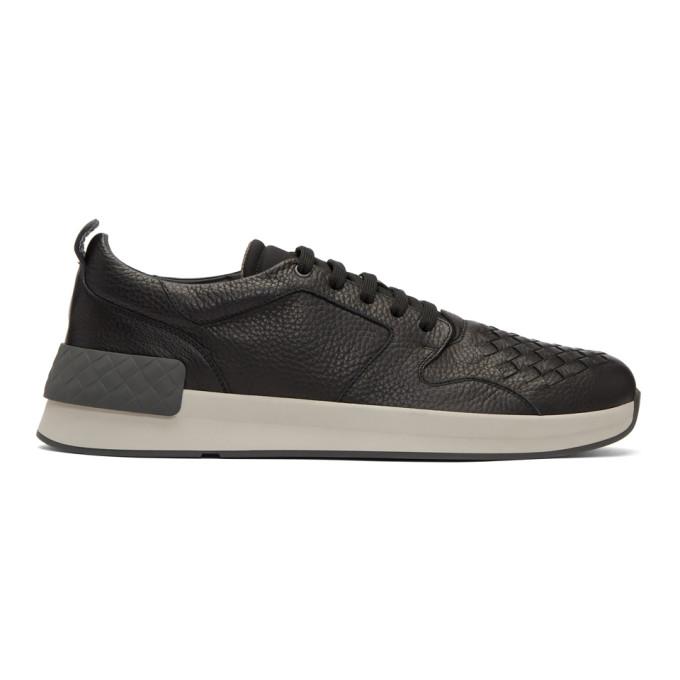 Bottega Veneta Black Intrecciato Grand Sneakers