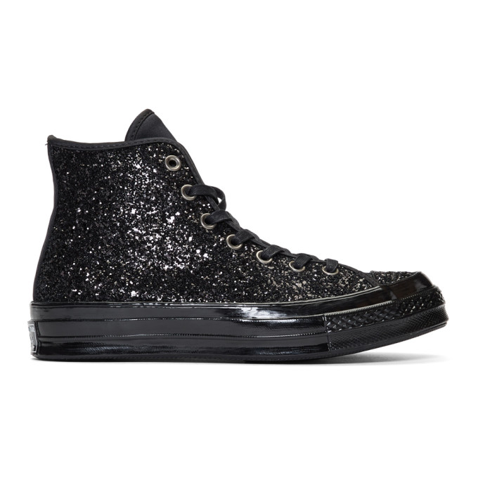 Chuck Taylor All Star Glitter High Top Sneaker in Black