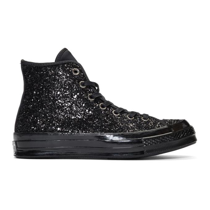 CONVERSE Chuck Taylor All Star Glitter High Top Sneaker in Black