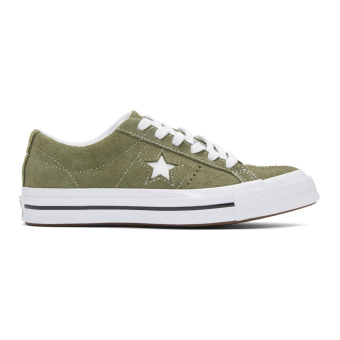 Converse Khaki Suede One Star Sneakers