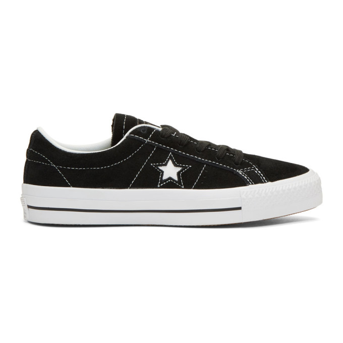 Image of Converse Black Suede One Star Skate Sneakers