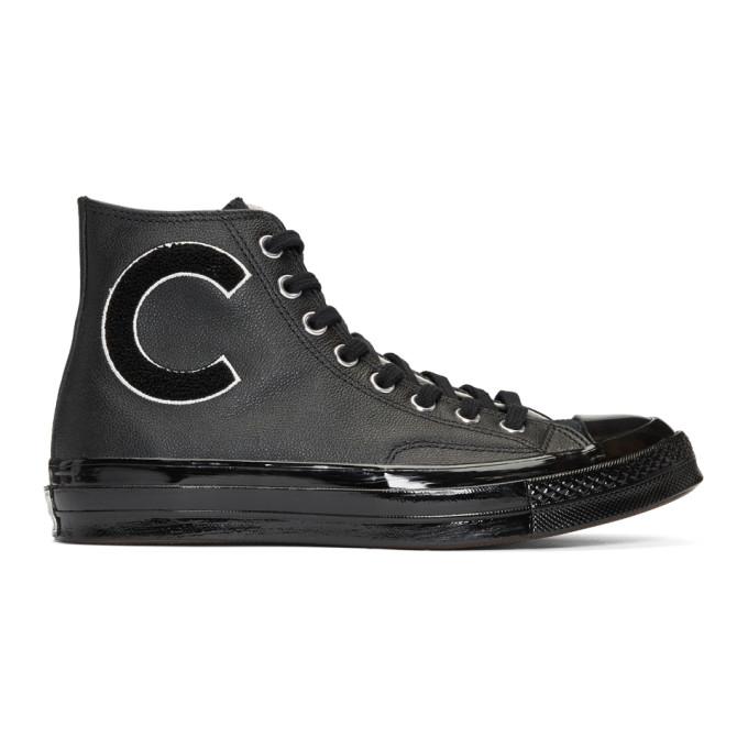 Converse Black Wordmark Wool Chuck Taylor All-Star '70 Hi Sneakers
