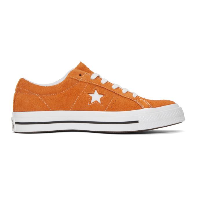 Converse Orange Suede One Star Sneakers