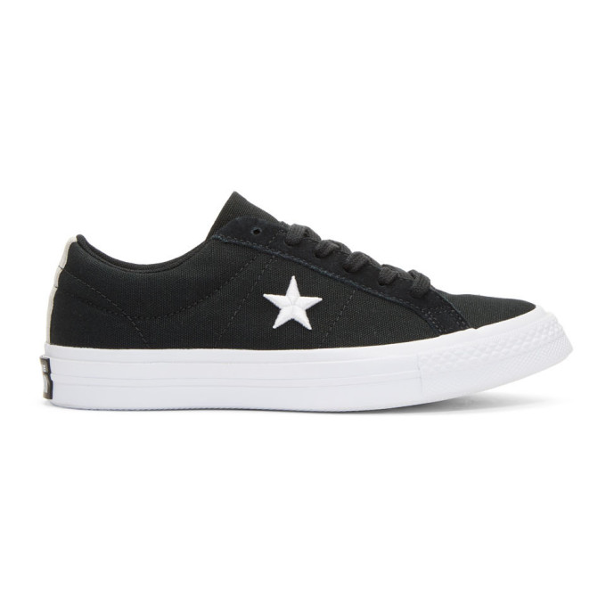Converse Black Canvas One Star Sneakers
