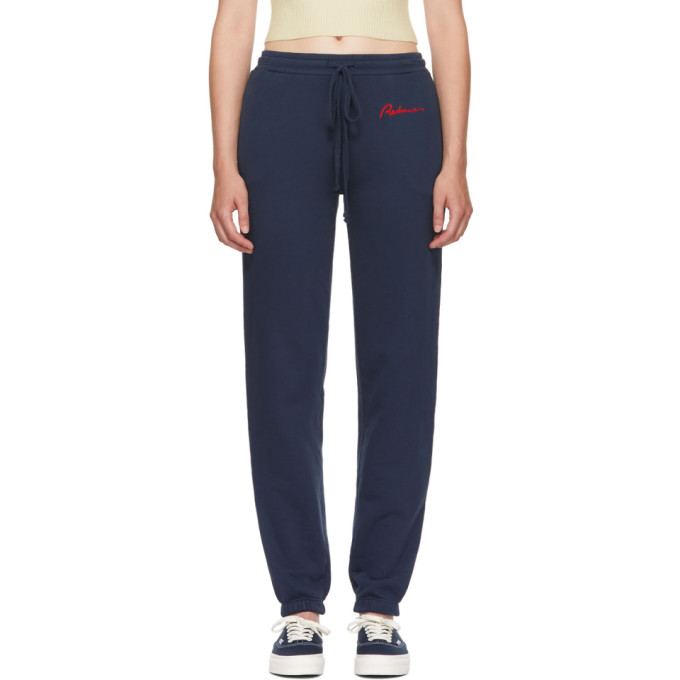Re/Done Blue Chain Stitch Lounge Pants