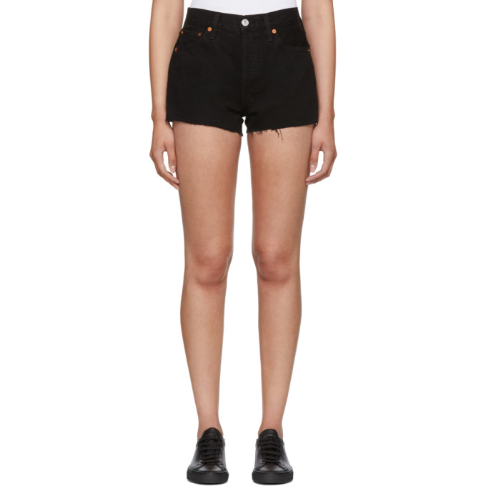 Image of Re/Done Black Originals Denim Shorts