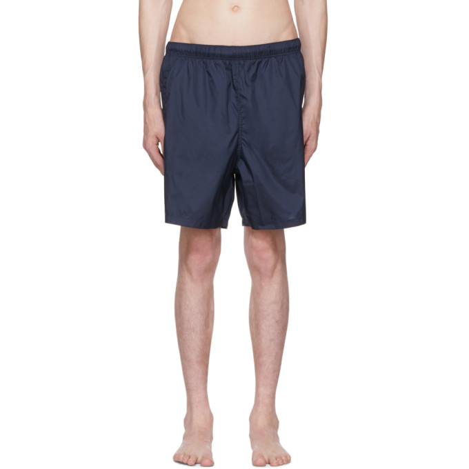 OUR LEGACY Elasticated Waist Swim Shorts in Blue