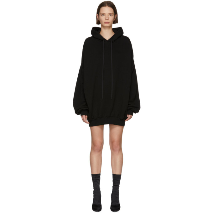 Ben Taverniti Unravel Project Dresses UNRAVEL BLACK HOODED DRESS