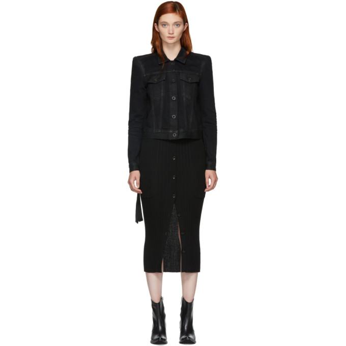 Image of Unravel Black Spalline Denim Jacket
