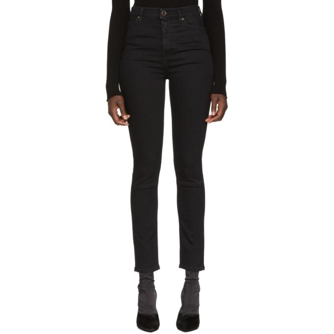 Unravel Black Stone Denim Skinny Jeans