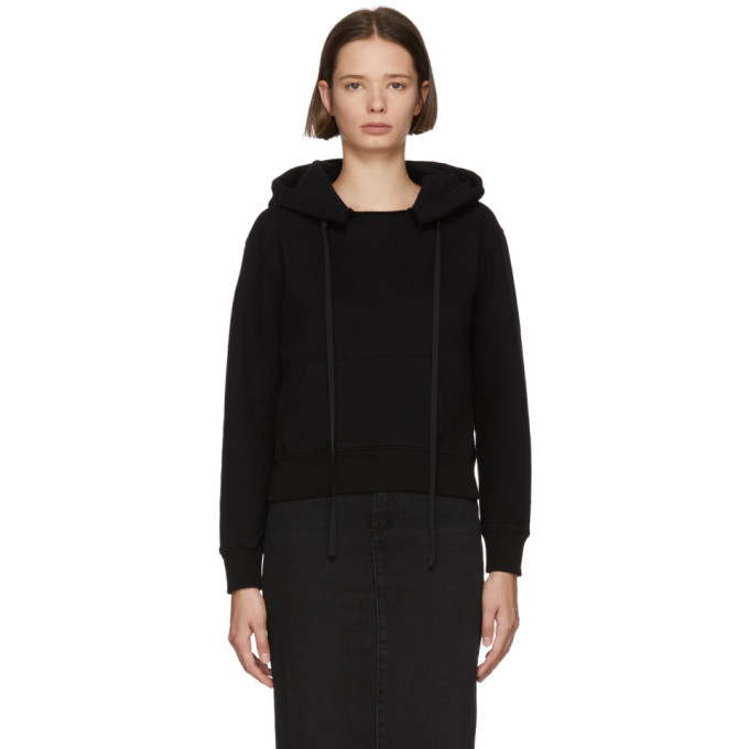 Ben Taverniti Unravel Project UNRAVEL BLACK TERRY BRUSHED HOODIE