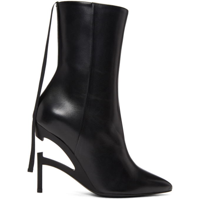 Image of Unravel Black Broken Heel Boots