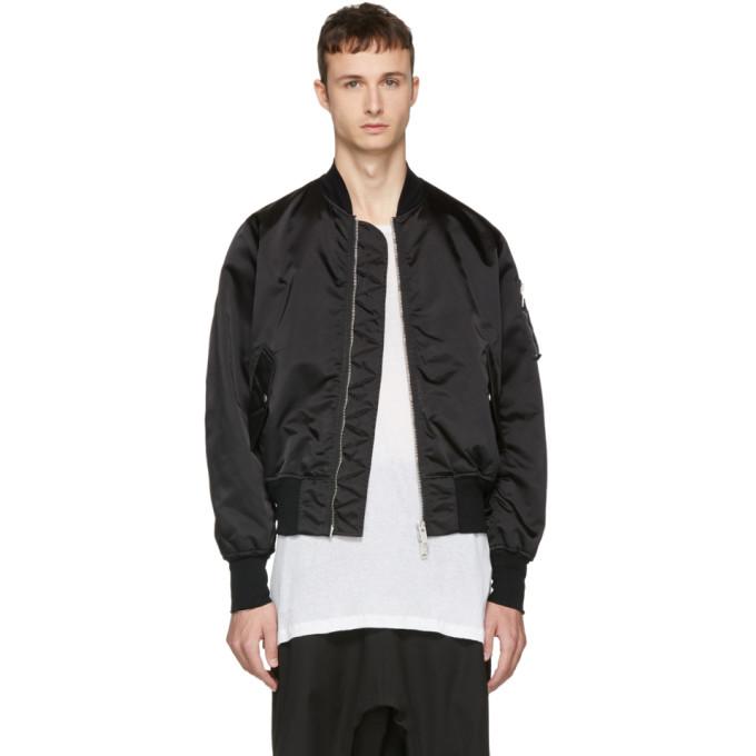 Image of Unravel Black Nylon Basic Bomber Jacket