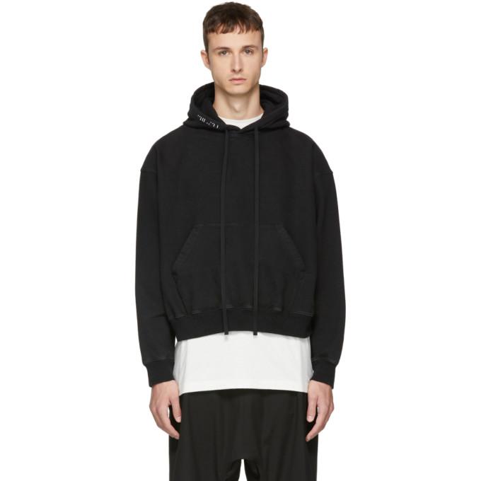 Image of Unravel Black Oversized Hoodie