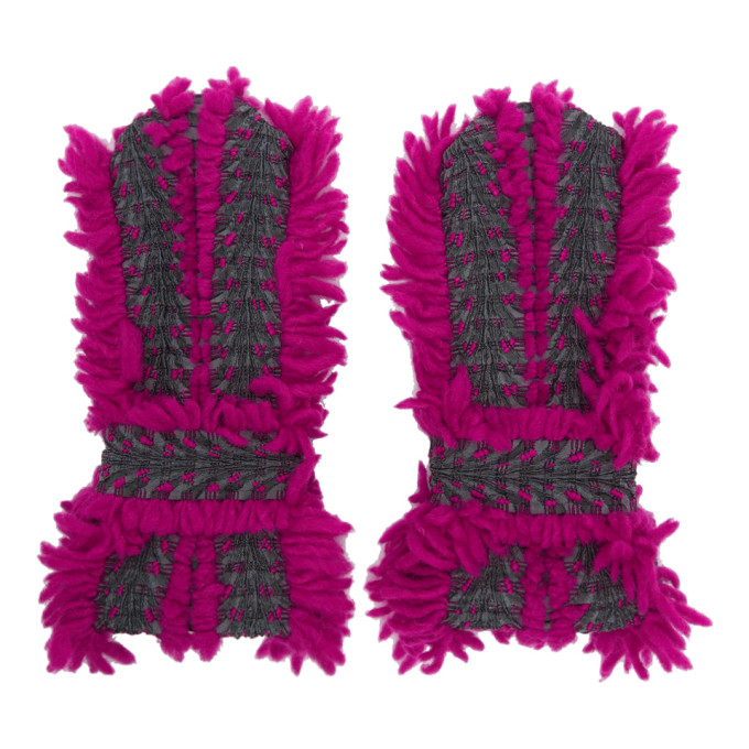 Issey Miyake Pink & Grey Eagle Gloves