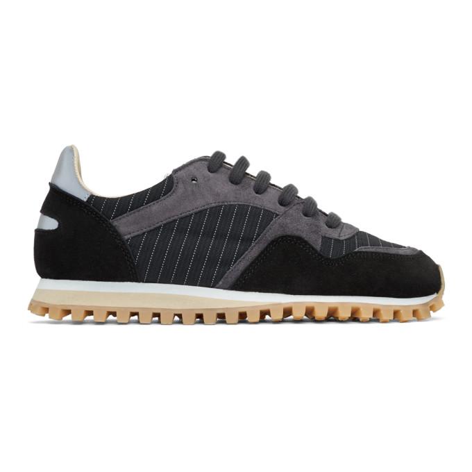 Spalwart Black Marathon Trail Low Pinstripe Sneakers