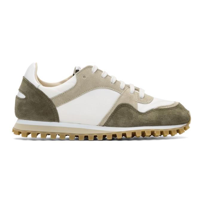 Spalwart White & Brown Marathon Trail Low Sneakers
