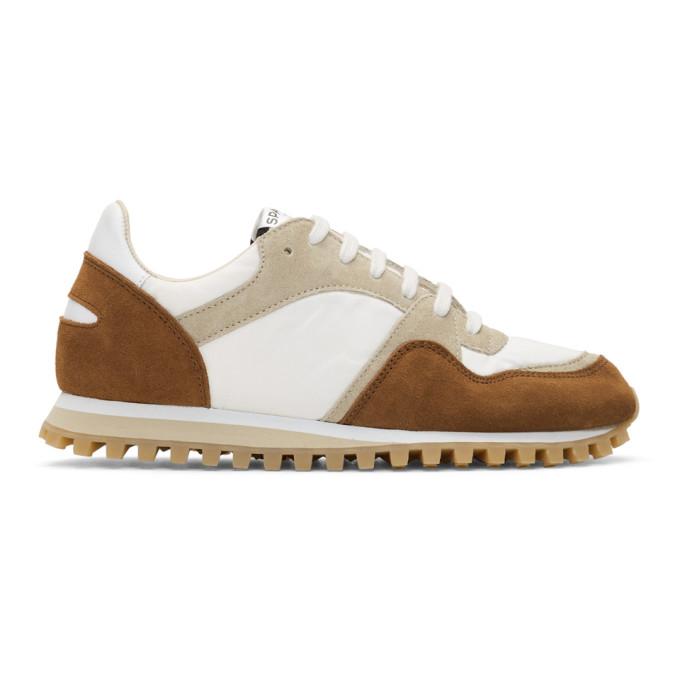 Spalwart White & Tan Marathon Trail Low Sneakers