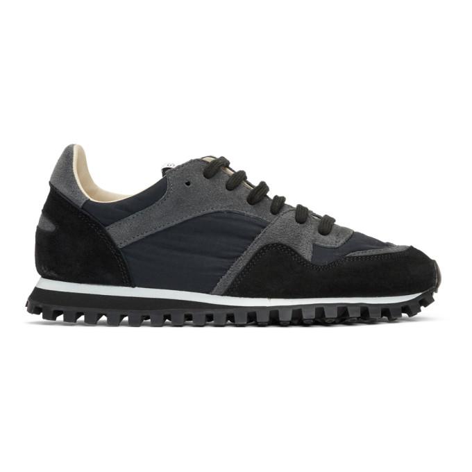 Spalwart Black Suede Marathon Trail Low Sneakers