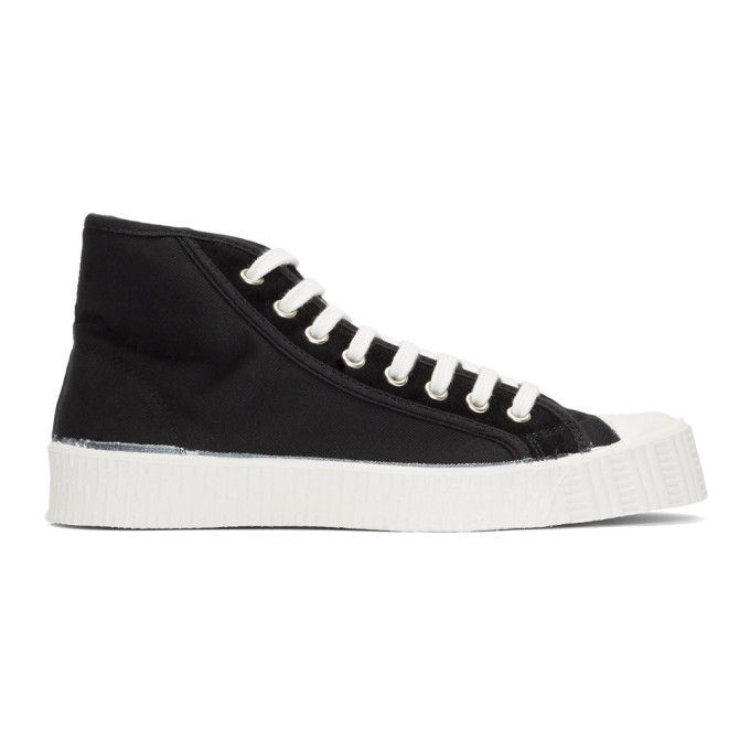 Spalwart Black & White Special Mid Twill WS Sneakers