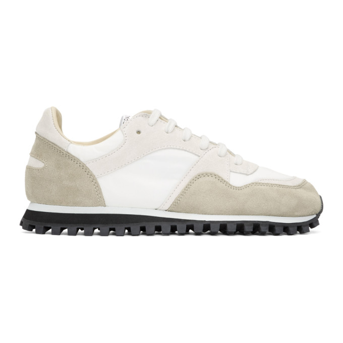 Spalwart White & Taupe Suede Marathon Trail Low WB Sneakers