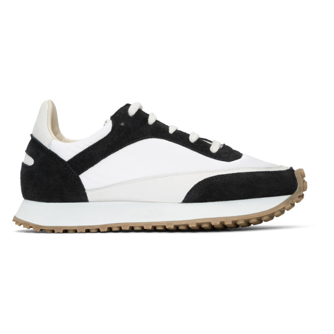 Spalwart White & Black Tempo Low Sneakers