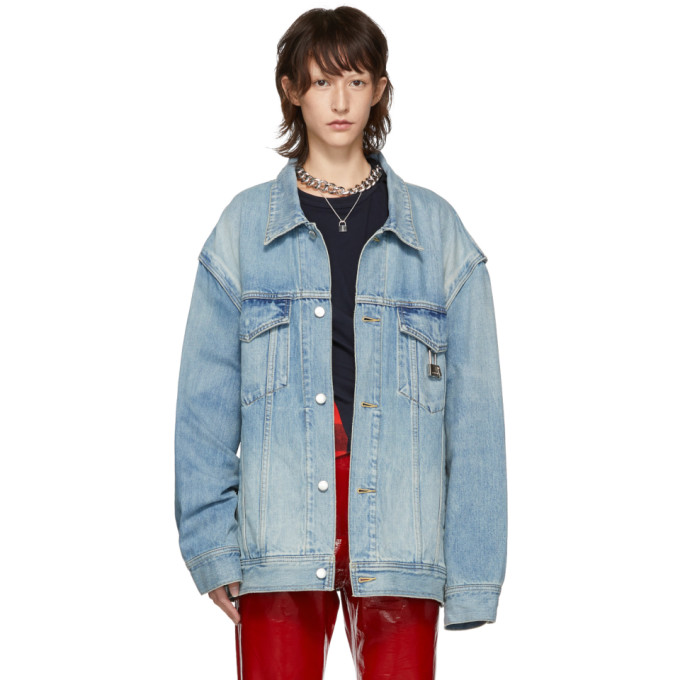 Padlock Denim Jacket in Blue