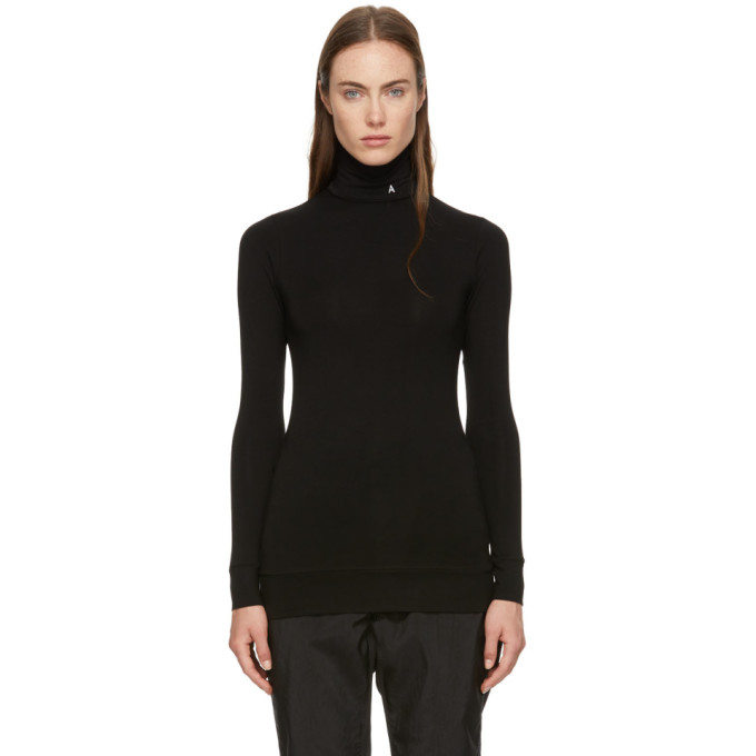 Image of Ambush Black Fitted Logo Turtleneck