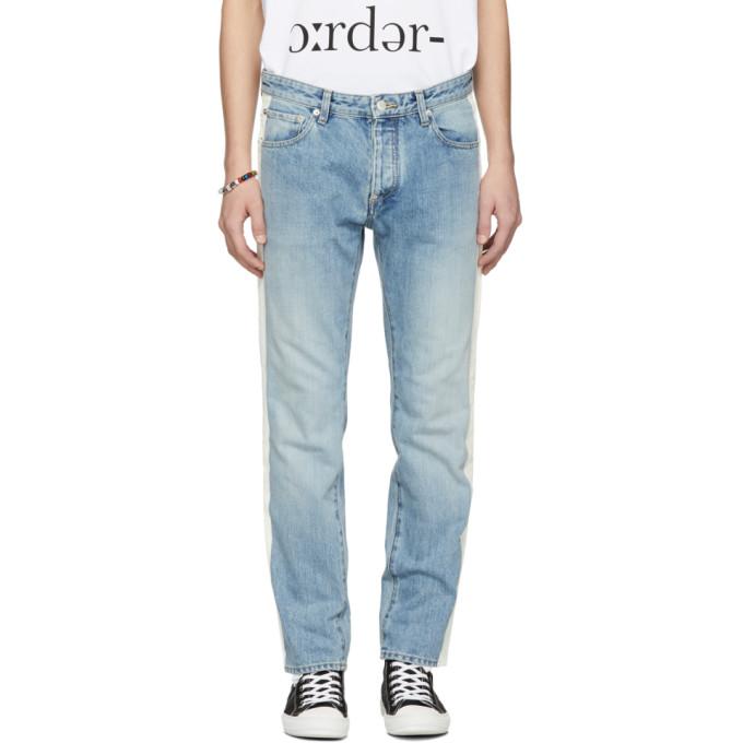 AMBUSH Side Stripe Slim-Fit Jeans in Blue