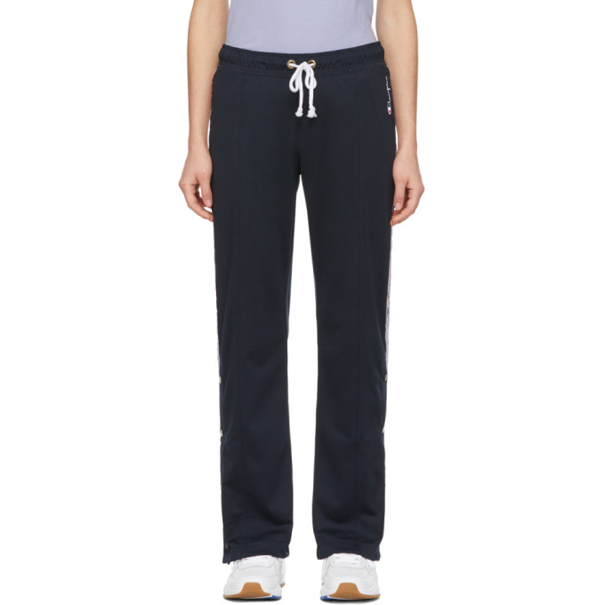 Image of Champion Reverse Weave Navy Straight Hem Lounge Pants