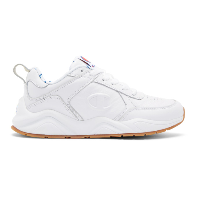 Image of Champion Reverse Weave White 93Eighteen Sneakers