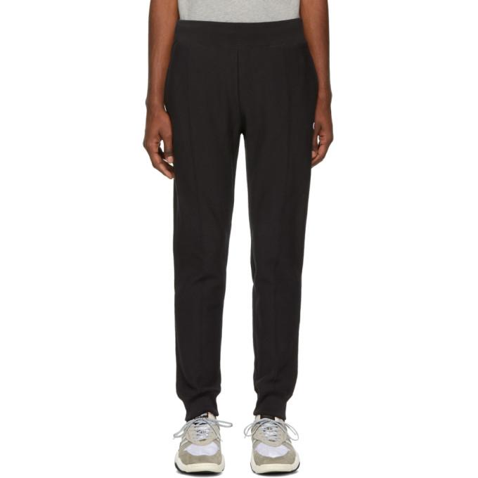 Image of Champion Reverse Weave Black Cuffed Jogger Pants