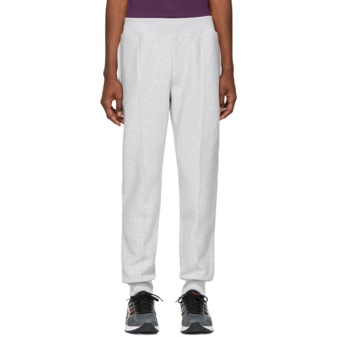 Image of Champion Reverse Weave Grey Cuffed Jogger Lounge Pants