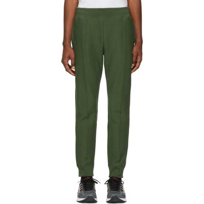 Image of Champion Reverse Weave Green Cuffed Jogger Lounge Pants