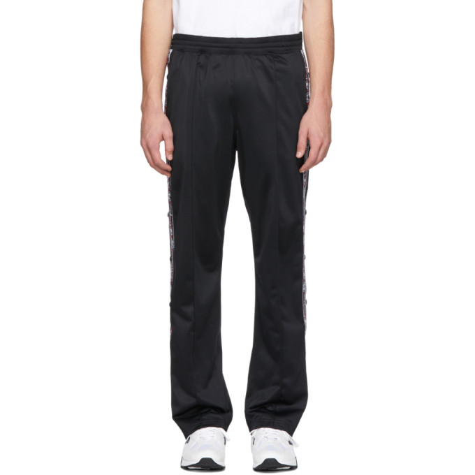 Image of Champion Reverse Weave Black Logo Tape Lounge Pants