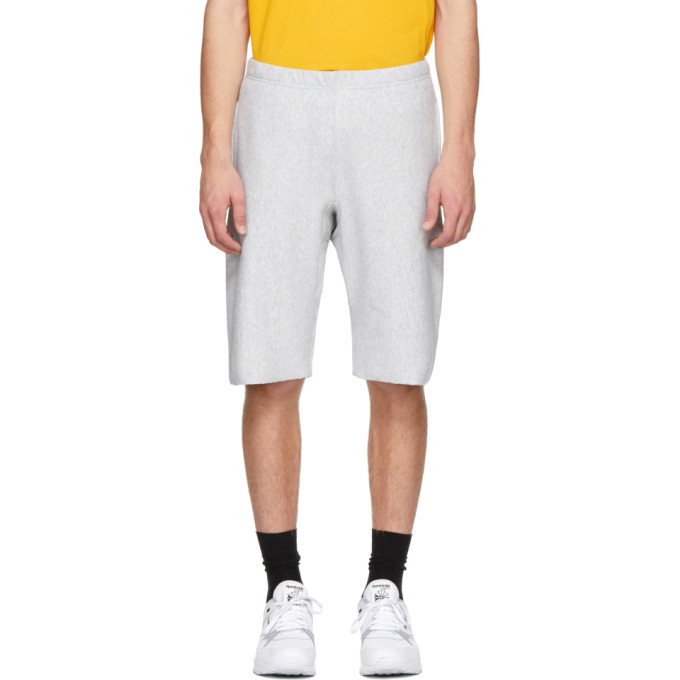 Image of Champion Reverse Weave Grey Logo Bermuda Shorts