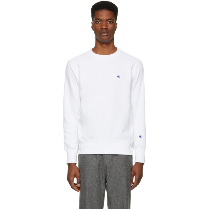 Image of Champion Reverse Weave White Logo Sweatshirt