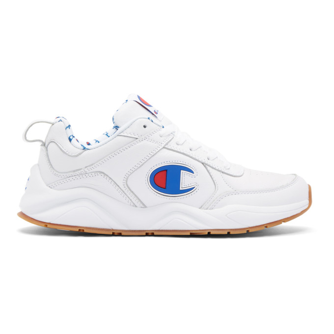 Image of Champion Reverse Weave White 93Eighteen Big C Sneakers