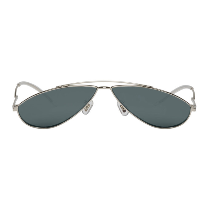 Image of Gentle Monster Silver Kujo Sunglasses