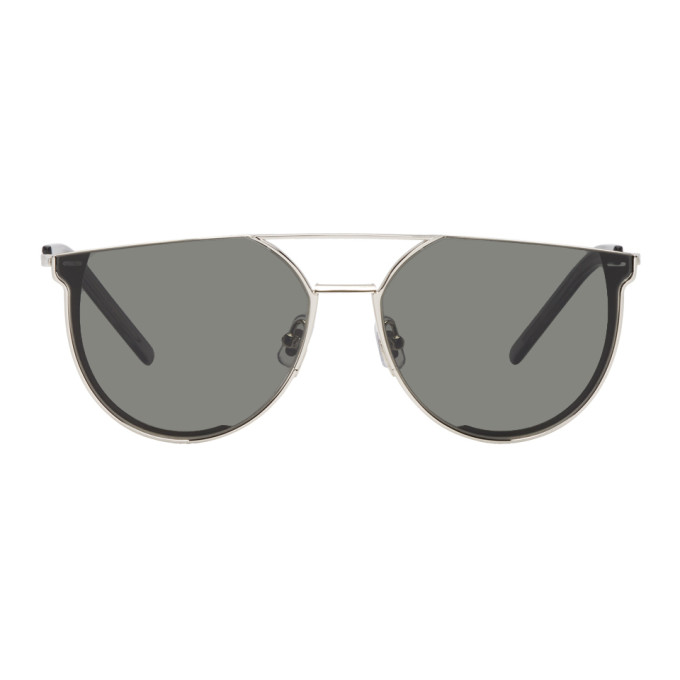 GENTLE MONSTER Gentle Monster Silver And Grey K-1 Sunglasses in 02 Silver