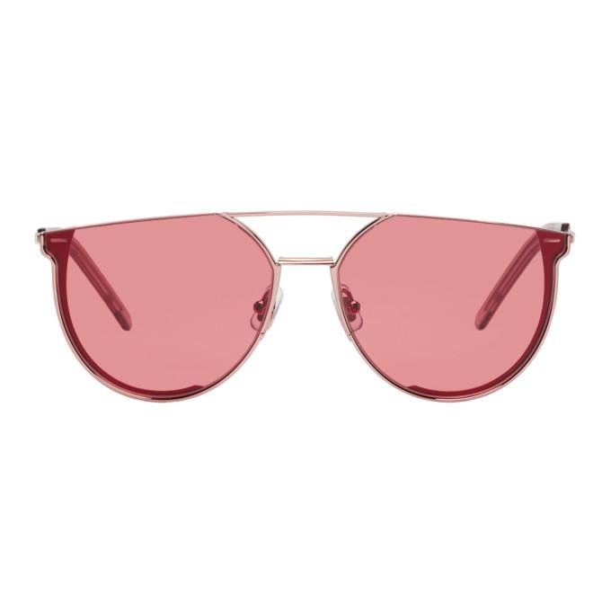 GENTLE MONSTER Gentle Monster Rose Gold And Orange K-1 Sunglasses in 06 Rosegold