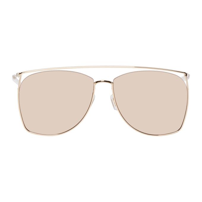 GENTLE MONSTER Gentle Monster Gold Tick Tock Sunglasses in 032(14M)Gld