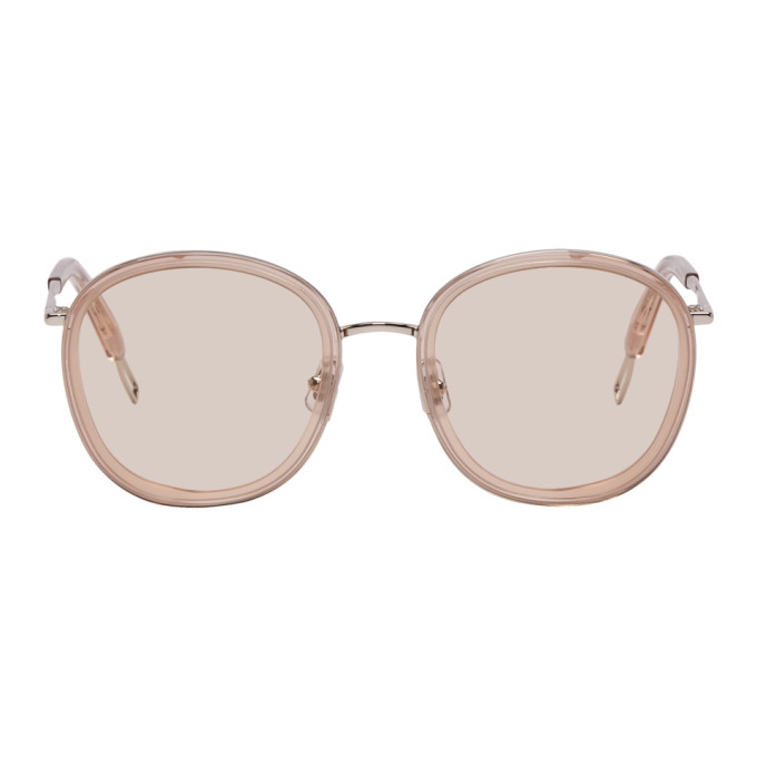 GENTLE MONSTER Gentle Monster Taupe And Silver Ollie Sunglasses in S1 Silver