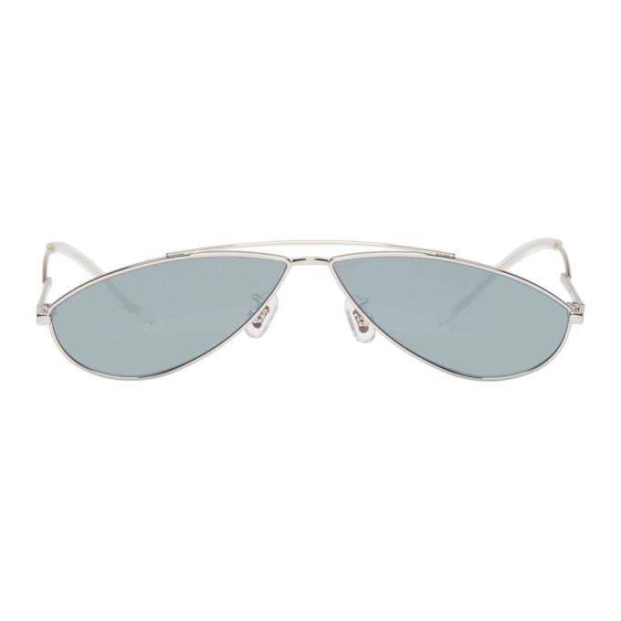 GENTLE MONSTER Gentle Monster Silver Kujo Sunglasses in 02(1M) Silv