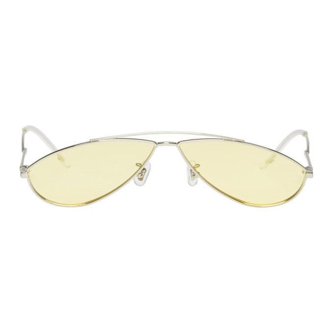 GENTLE MONSTER Gentle Monster Silver And Yellow Kujo Sunglasses in 02(Y) Silvr